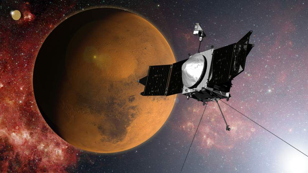 NASA's Maven spacecraft enters Mars orbit _lowres