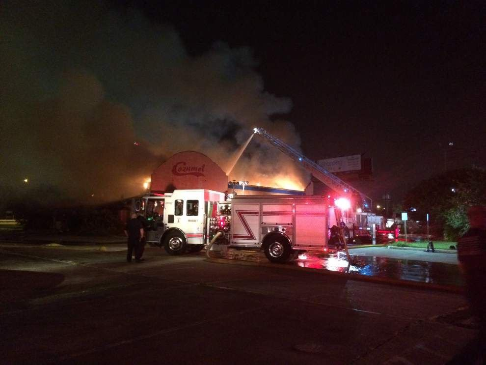 Fire destroys vacant restaurant outside Cortana Mall late Saturday _lowres