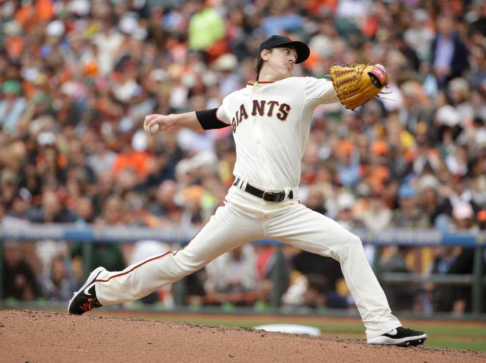 Tim Lincecum no-hits Padres _lowres