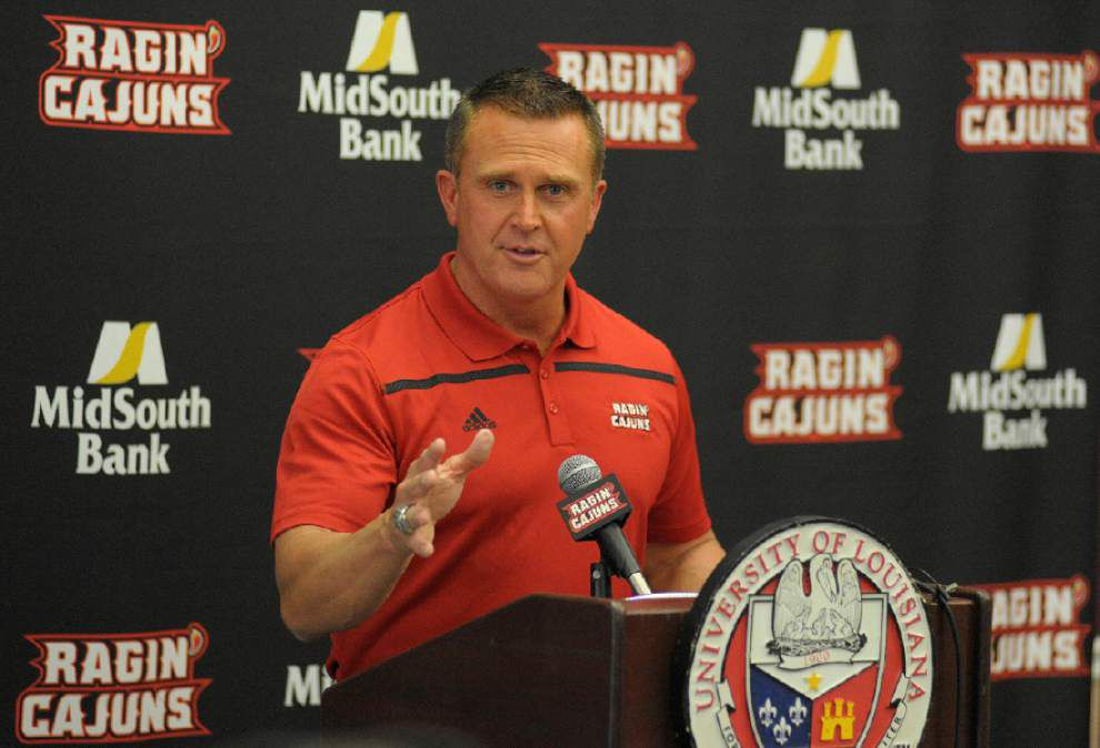 Cajuns football team to wear 'Lafayette Strong' stickers this fall season _lowres