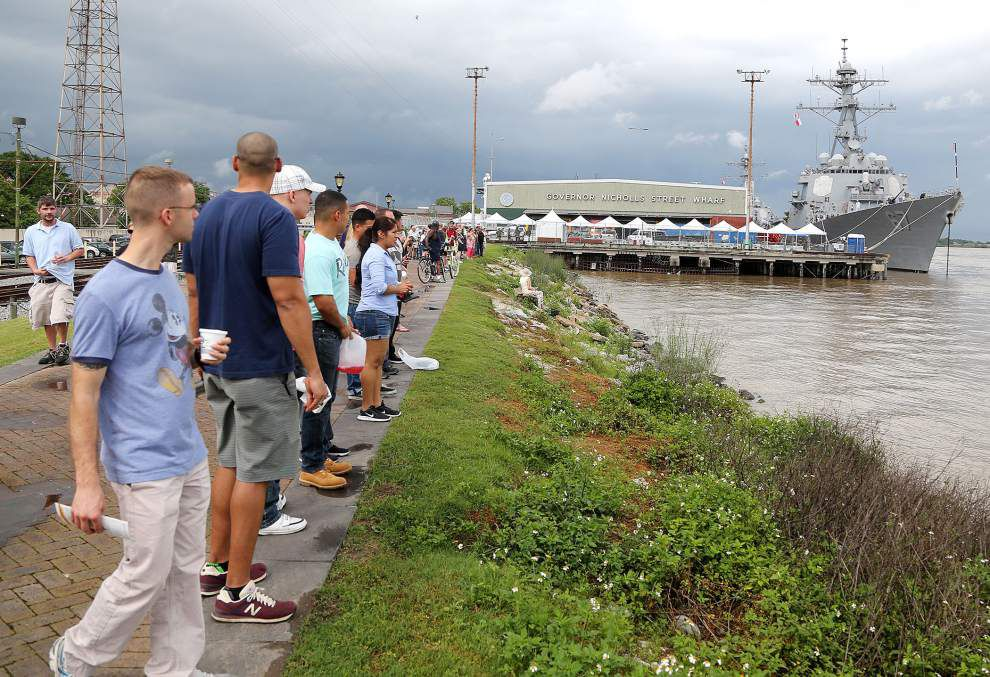 Photos: Navy Week: Sailors from U.S. Navy, Coast Guard, Great Britain all coming ashore in New Orleans _lowres