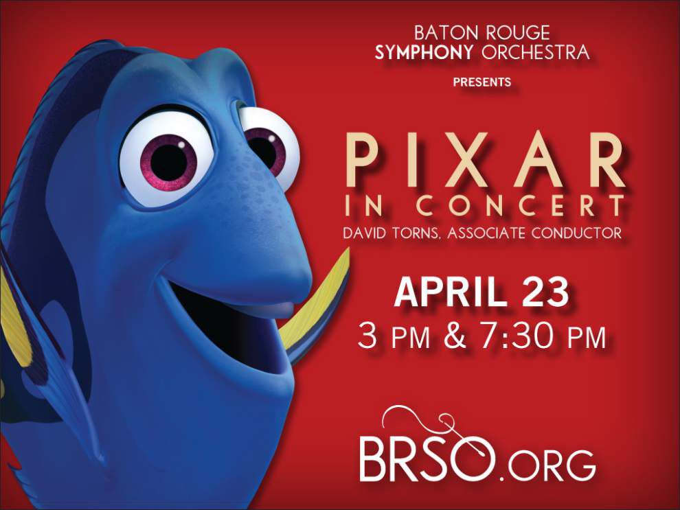 Feeling the tunes: Baton rouge Symphony concert features scenes from Pixar films _lowres