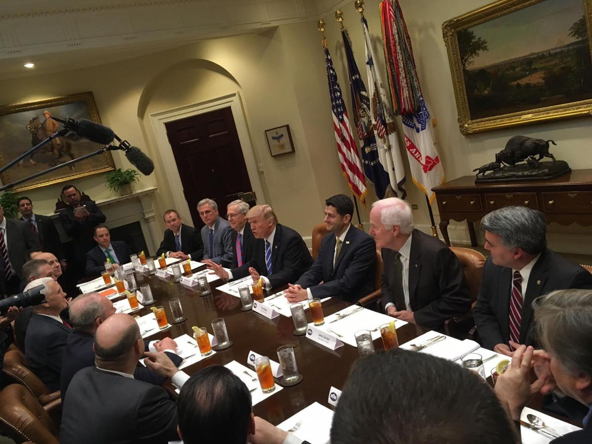 U.S. Majority Whip Steve Scalise, other GOP leaders lunch with President Donald Trump