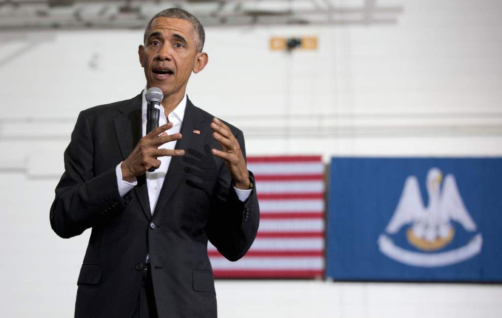 Oops! Video: President Obama says 'thank you, New Orleans' at end of Baton Rouge town hall event _lowres