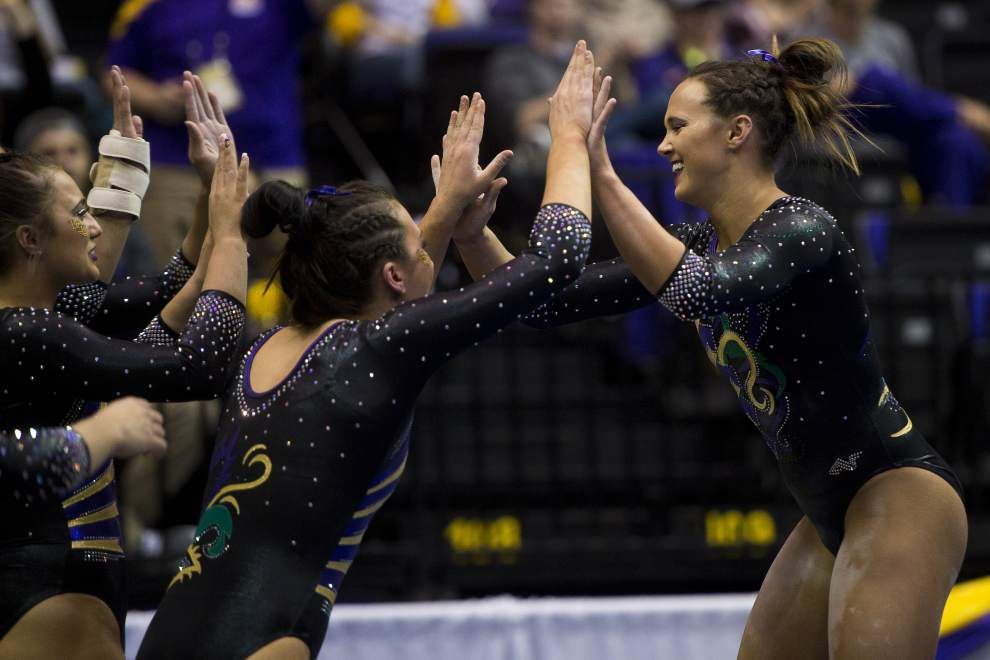 Myia Hambrick leads LSU gymnastics team to top-10 victory over Arkansas _lowres