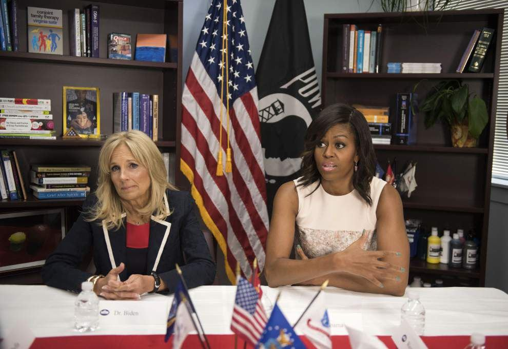Michelle Obama congratulates New Orleans for effectively ending veterans homelessness _lowres