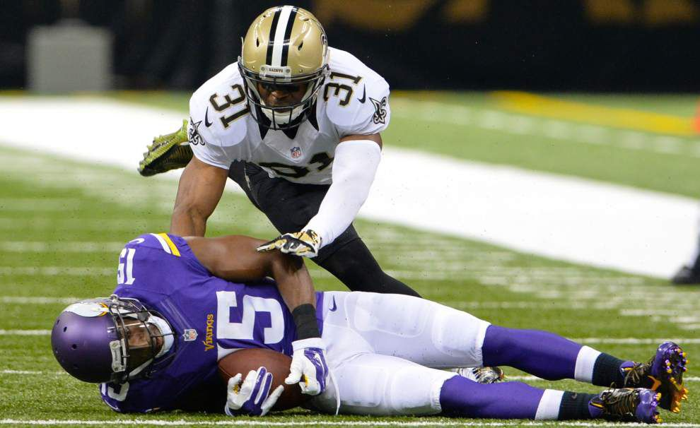 Saints safety Jairus Byrd is out for the season after having surgery to repair a torn lateral meniscus _lowres