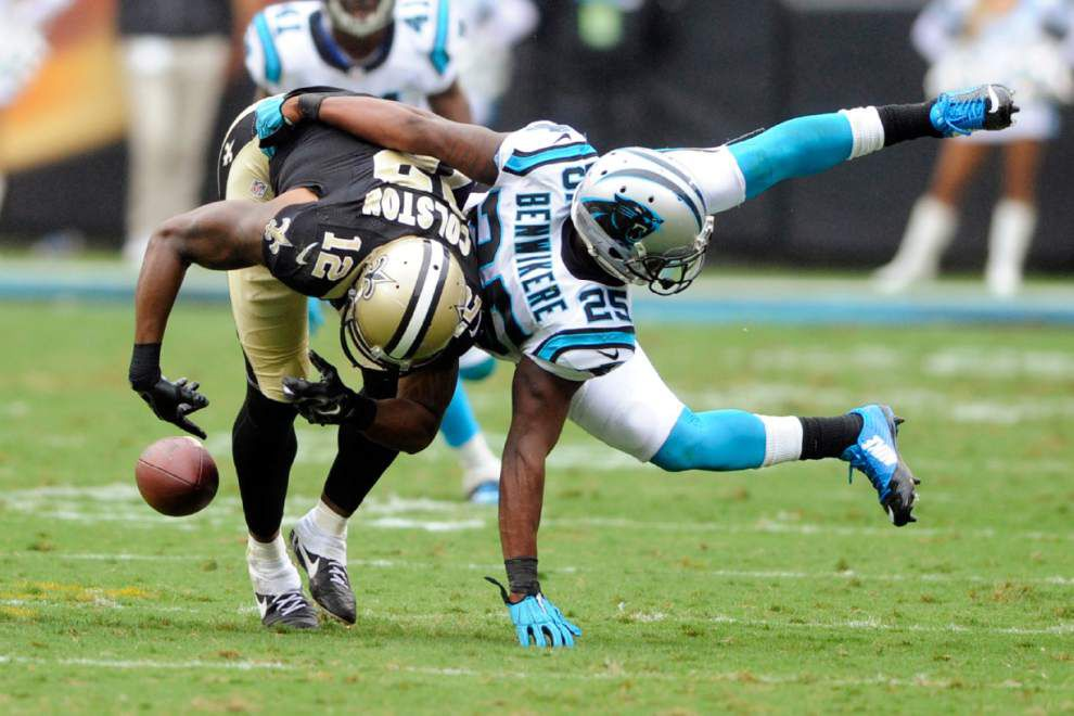 Lewis: From near stunning win to frustration, Saints play hard but come up short vs. Carolina _lowres