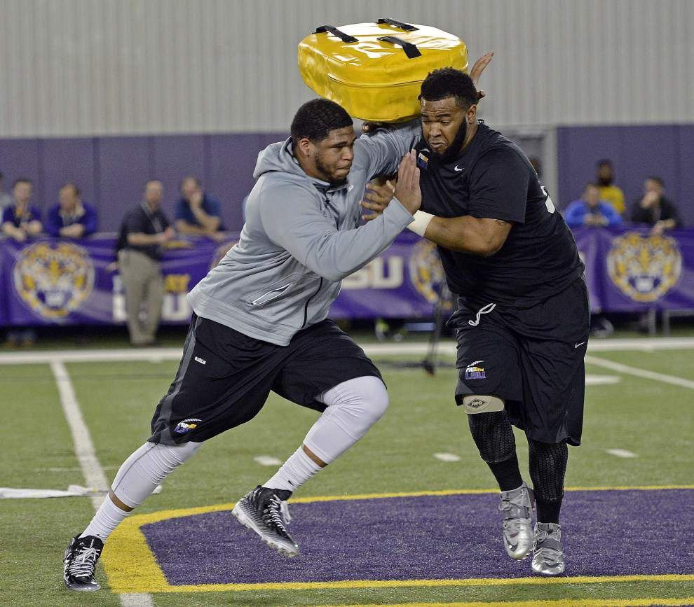 Sources: Super Bowl champion New England Patriots latest in list of teams pursuing ex-LSU lineman La'el Collins _lowres
