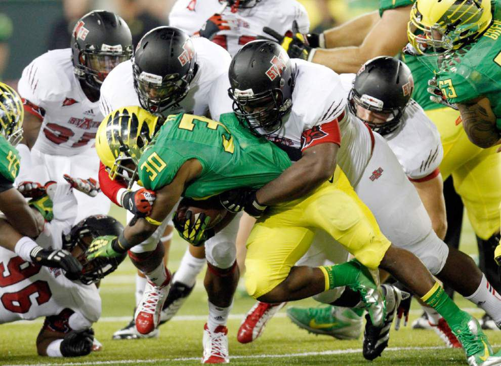 Suspensions leave Oregon short-handed against Ohio State in CFP national championship _lowres