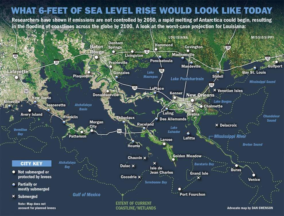 Saving Louisiana's coast: Curbing emissions critical to avoiding devastating sea level rise _lowres