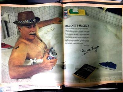 Ronnie Virgets centerfold
