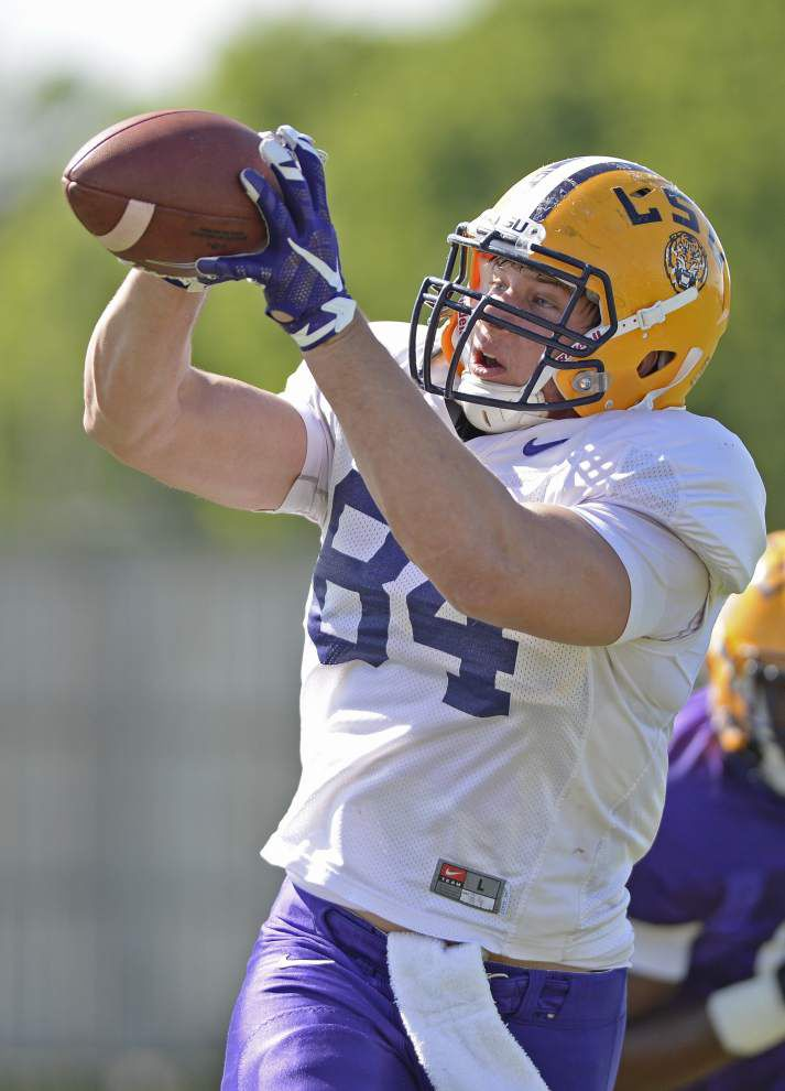 No slouch here: LSU running back Derrius Guice mirroring 'big brother' Leonard Fournette _lowres