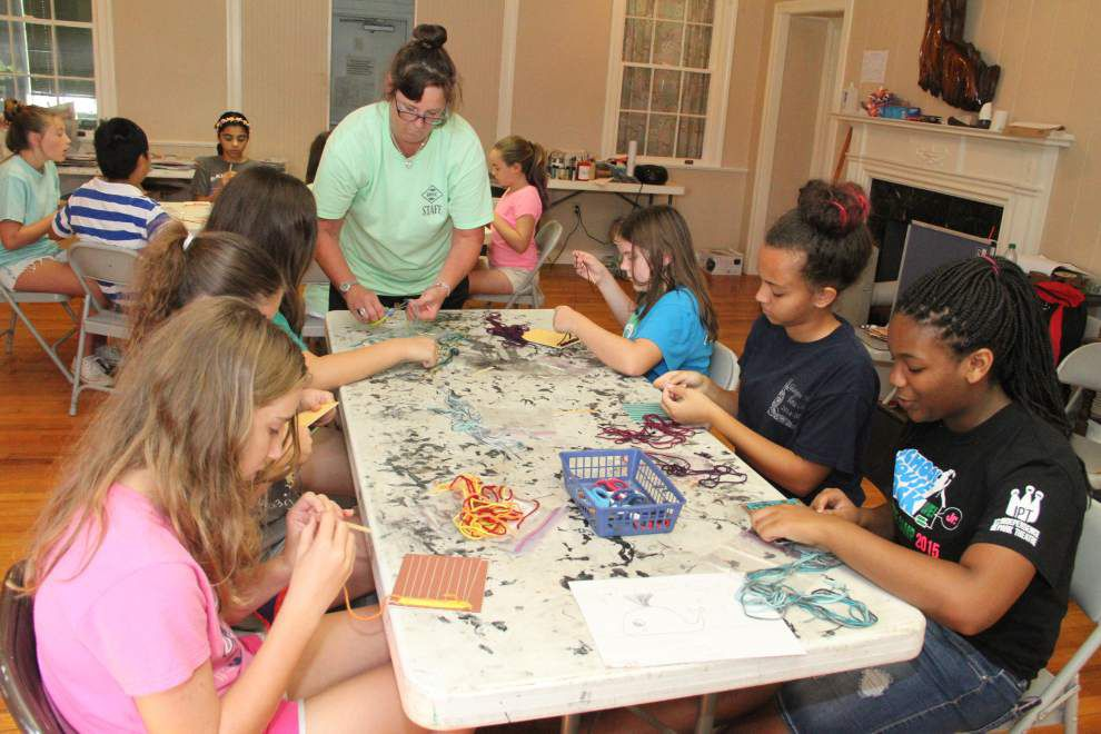 Campers attend summer history camp at Magnolia Mound _lowres