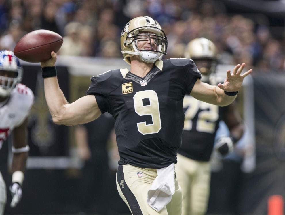 Nick Underhill: His intelligence on full display, Saints QB Drew Brees shows what he's still capable of in shootout win over the Giants _lowres