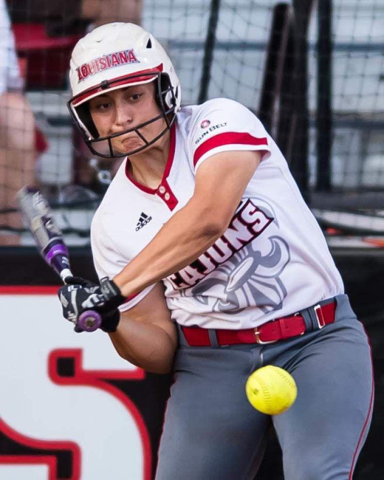 Louisiana-Lafayette's Lexi Elkins, LSU's Carley Hoover lead all-Louisiana softball team _lowres