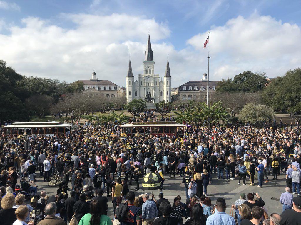 Super Bowl boycott second line New Orleans