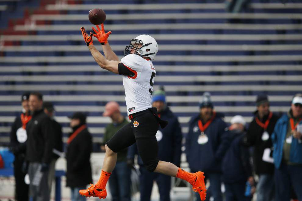 Northwestern State's Ed Eagan gets Senior Bowl call — and gets right into action _lowres