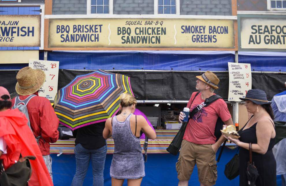 Food vendors, book tent look for drier Jazz Fest weather Sunday _lowres