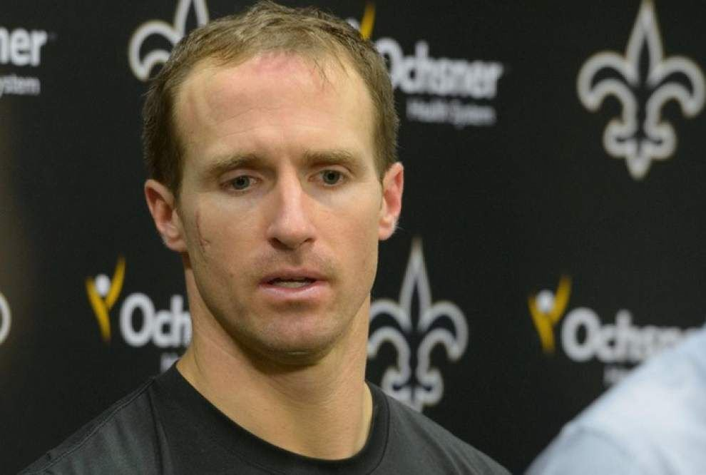 Saints quarterback Drew Brees 'pretty confident' he will play Sunday vs. Panthers _lowres