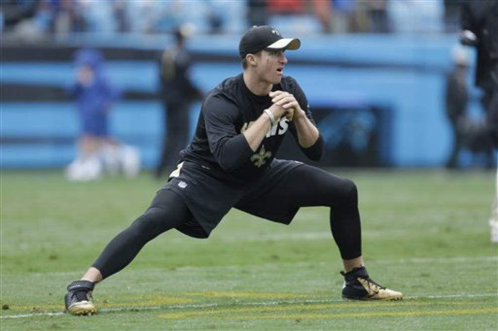 Report: Saints quarterback Drew Brees shows progress, plans to throw again Wednesday _lowres