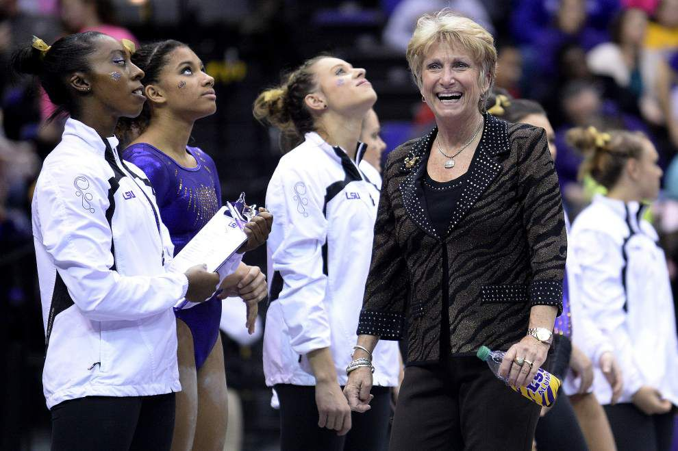 LSU gymnasts one meet away from first national title _lowres