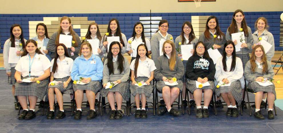 Academy of Our Lady students picked for National Honor Society _lowres