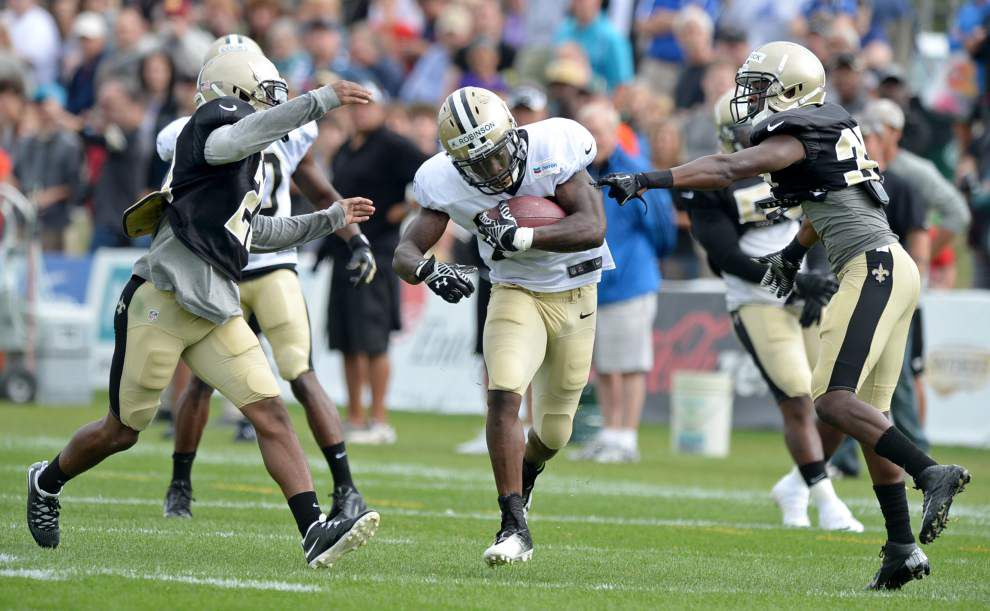 Reports during the Saints' Thursday practice (July 31) _lowres