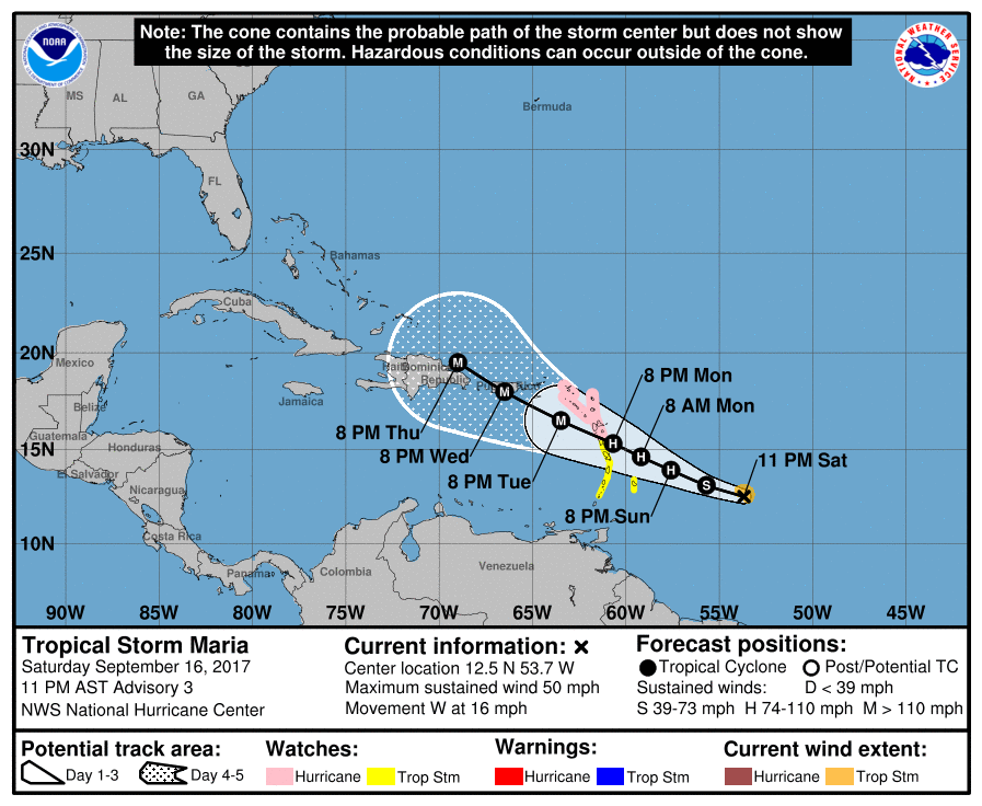Hurricane Maria pummels Dominica as Category 5 storm