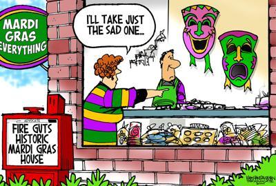 Walt Handelsman: Purple, Green,Yellow and Blue