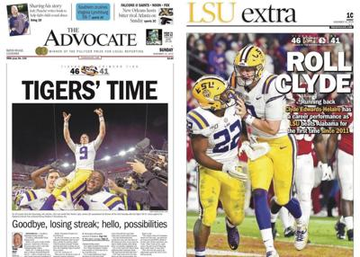 LSU winning front pages