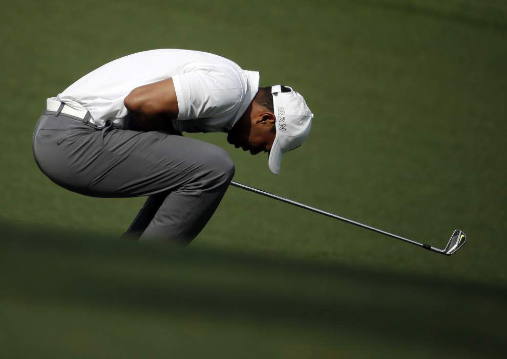The Masters: Jordan Spieth flirts with major record, settles for 3-stroke lead after opening round _lowres