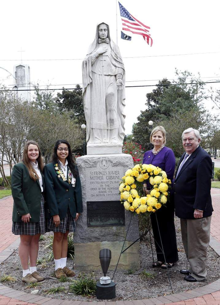 Cabrini High School lays wreath as part of feast day activities _lowres
