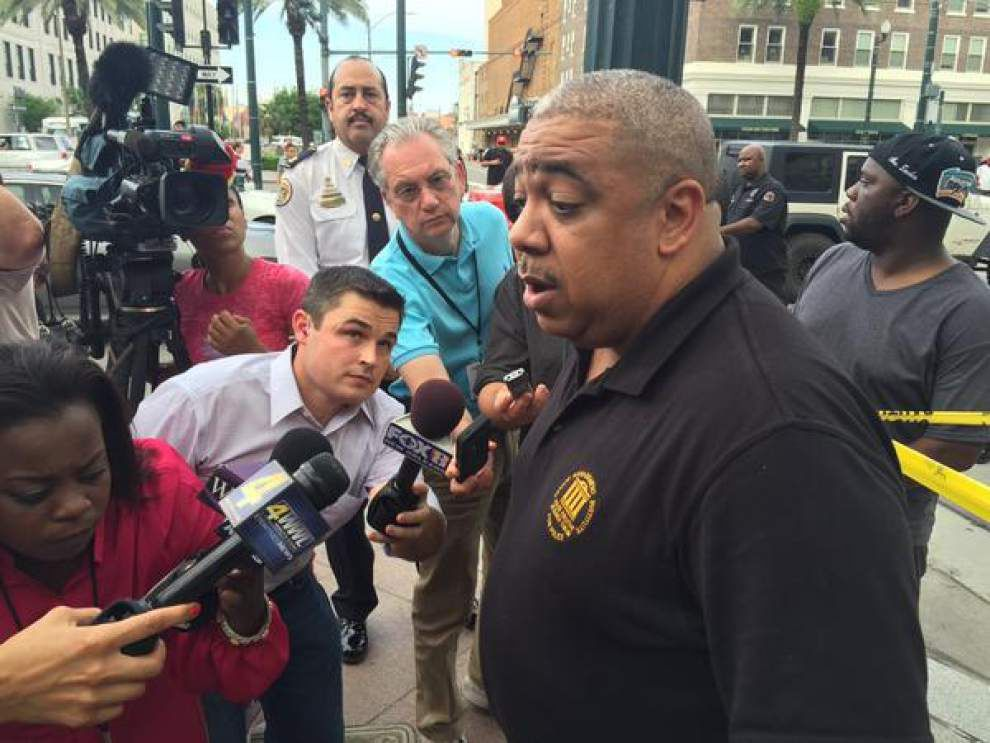 New Orleans Police Department arrests man for shooting woman inside a restaurant on Canal Street _lowres
