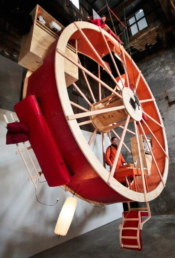 NYC artists live on 'human hamster wheel' _lowres
