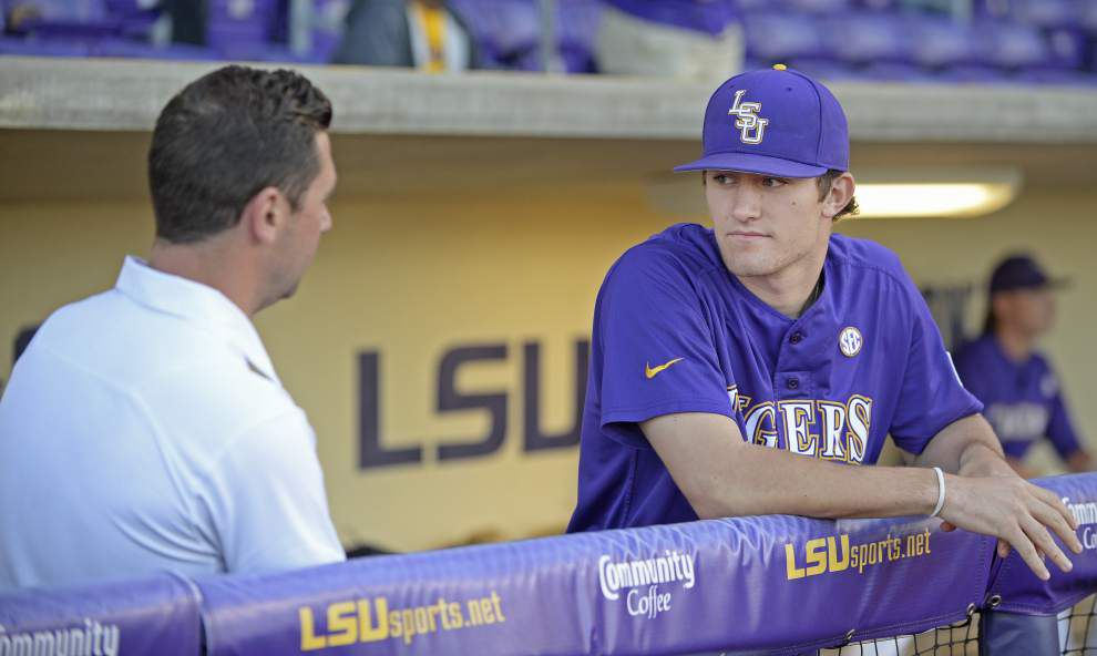 'Time to get back into the swing of things': Jake Latz, Riley Smith return to action as LSU welcomes McNeese on Tuesday _lowres