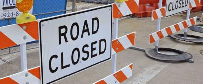 Road closed stock