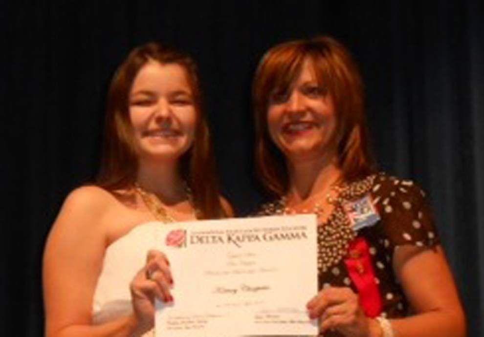 Rho Chapter, Delta Kappa Gamma, presents 2014 annual scholarship awards _lowres