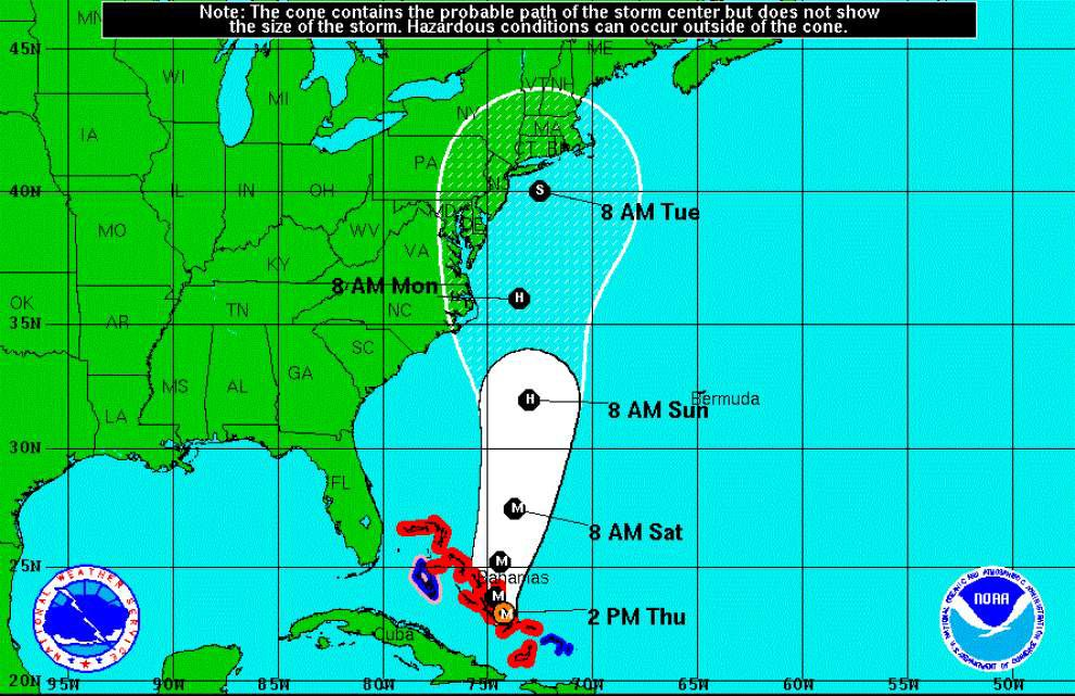 Hurricane Joaquin strengthens to 'dangerous Category 4 hurricane', forecast to approach East Coast by weekend _lowres