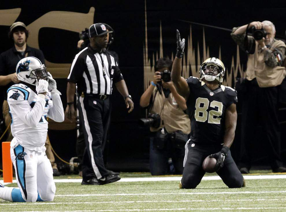 Saints tight end Ben Watson says the goal isn't to replace Jimmy Graham, but he has some of the skills to help the team do just that _lowres