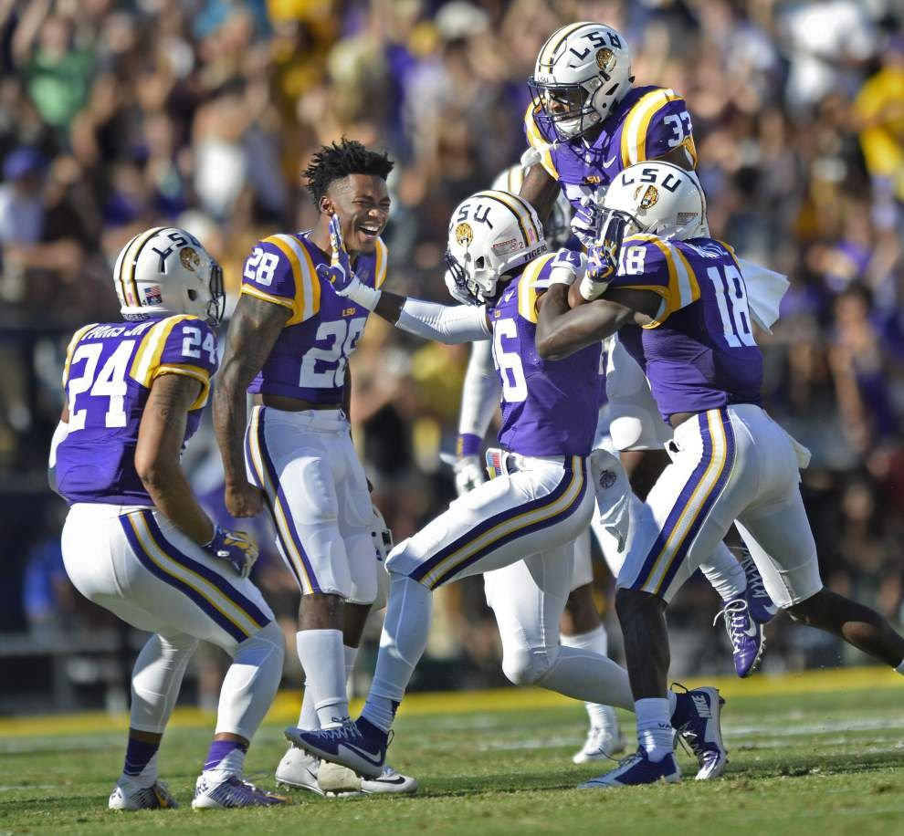 Back in the nick of time: LSU senior free safety Jalen Mills returns to anchor Tigers' secondary for game with pass-happy Western Kentucky _lowres