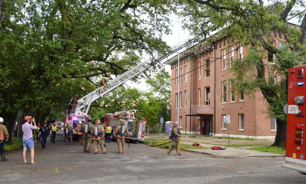 Fire damages historic Uptown school building under renovation as apartments _lowres