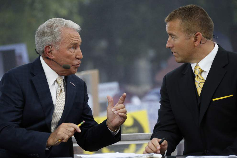 Rod Walker: Just like last year, Lee Corso is bullish on LSU and Leonard Fournette's chances in 2016 _lowres