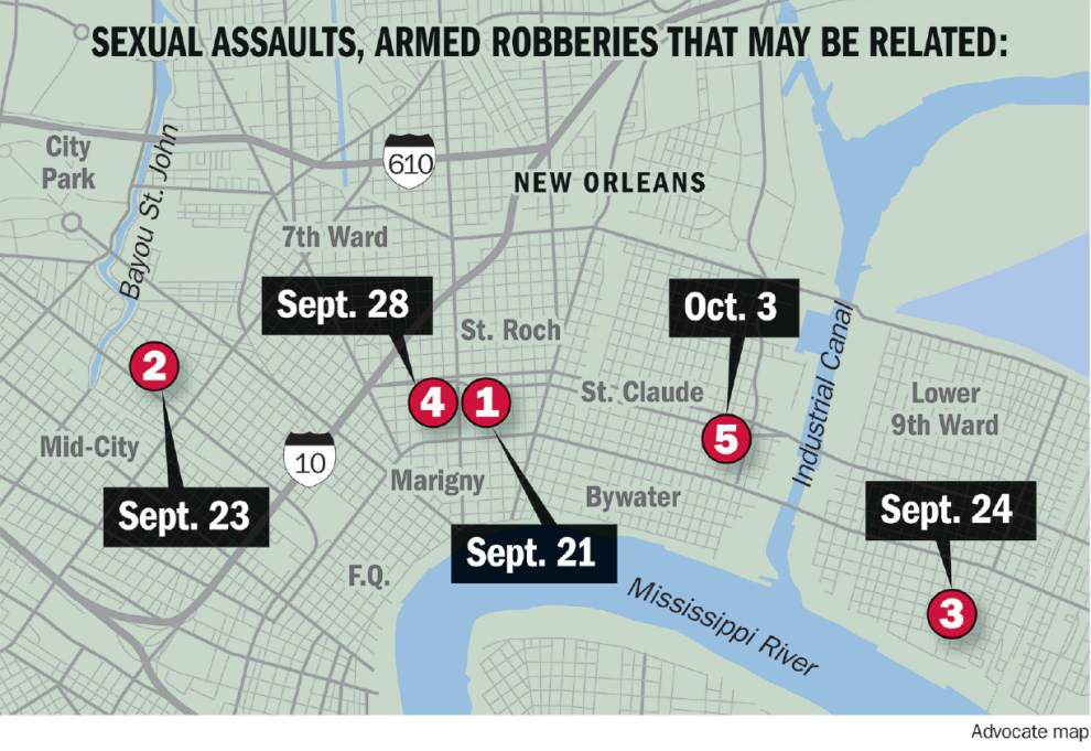 Unsolved sexual assaults that shake New Orleans neighborhoods might be connected, police say _lowres