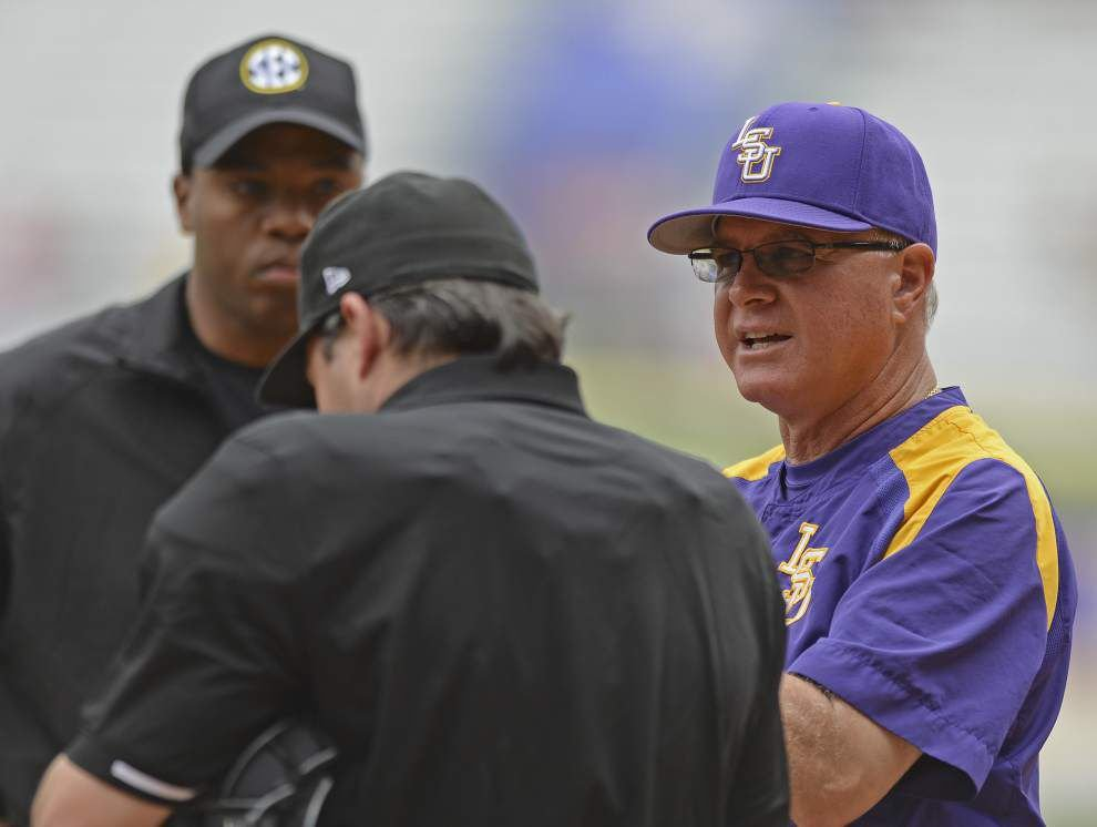 After LSU baseball's new fuzzy friend 'helps' clinch series with Auburn, he just may stick around for a while _lowres