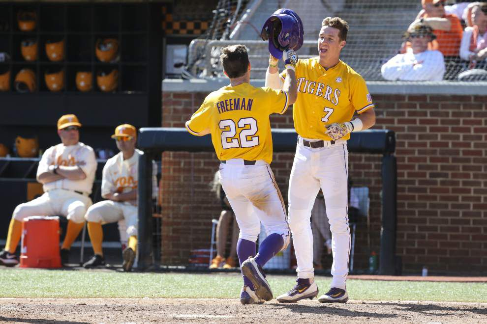 LSU faces Tennessee in single-elimination to open SEC touranment _lowres