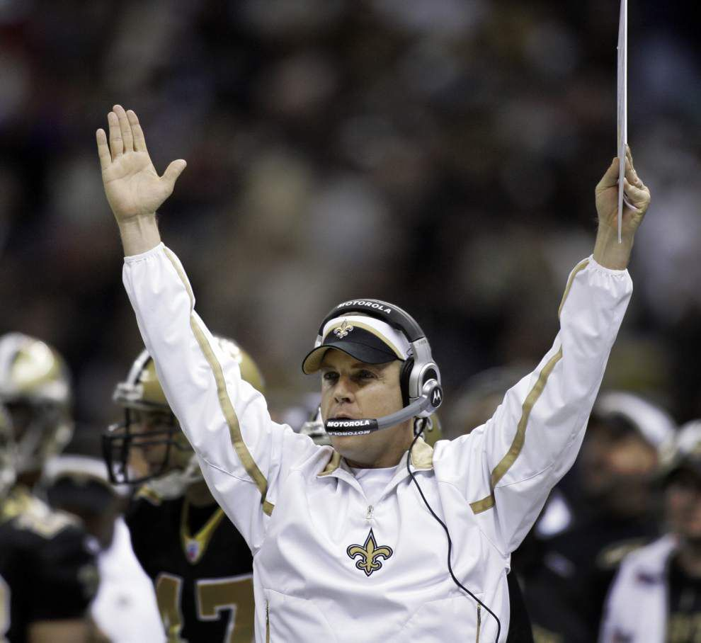 Sean Payton feels 'fortunate' to fill coaching staff openings with blend of experience and promise _lowres