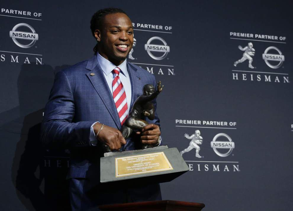 Alabama's Derrick Henry wins Heisman Trophy; LSU's Leonard Fournette finishes 6th in voting _lowres