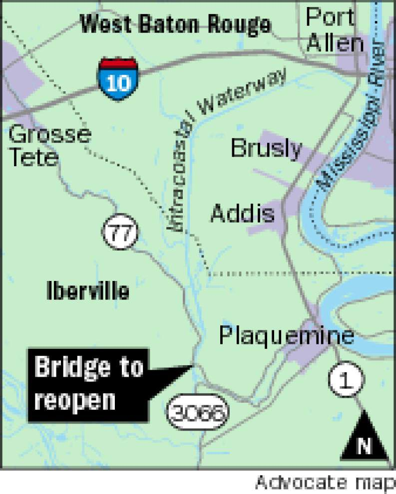 Closed La. 77 bridge in Iberville expected to reopen this weekend _lowres