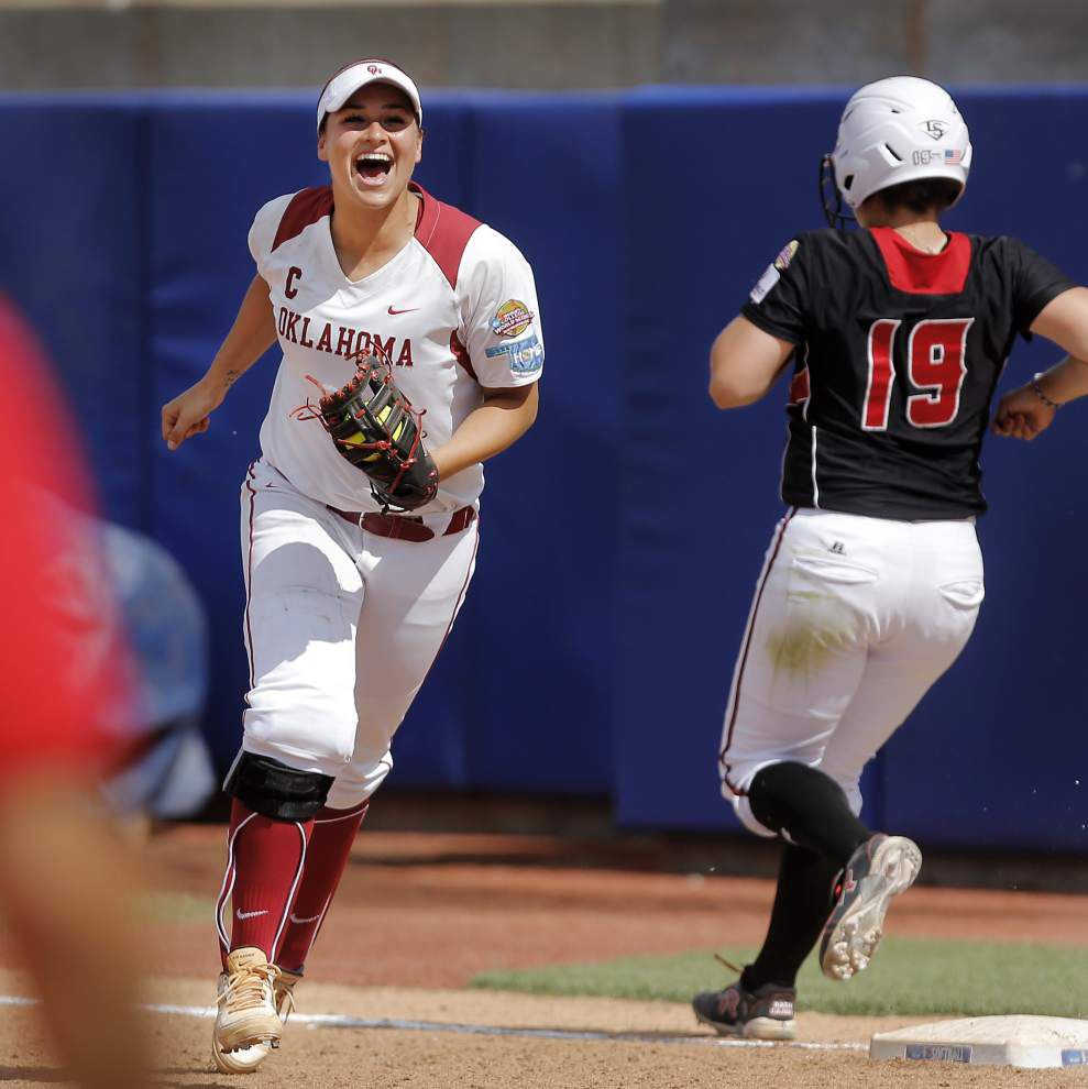 UL-Lafayette eliminated from WCWS with 3-1 loss to Oklahoma _lowres